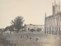 Mission school and church near Hooghly